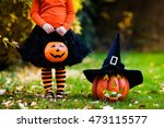 Little Girl In Witch Costume...