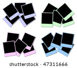 4 sets of colored frames ready... | Shutterstock . vector #47311666