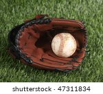 baseball and glove on the grass | Shutterstock . vector #47311834