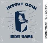 arcade vector vintage retro... | Shutterstock .eps vector #473120554