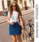 outdoor fashion street portrait ... | Shutterstock . vector #473126671