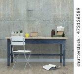work place. 3d rendering | Shutterstock . vector #473136589