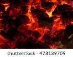 Glowing Embers In Hot Red Colo...