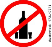 no drinking sign. no alcohol...   Shutterstock .eps vector #473147371
