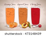 set realistic transparent...   Shutterstock . vector #473148439