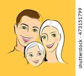 happy family portrait. parents... | Shutterstock .eps vector #473151799