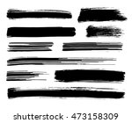 collection of different black... | Shutterstock .eps vector #473158309