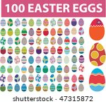 100 easter eggs. vector | Shutterstock .eps vector #47315872
