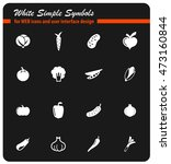 vegetables simply icons for web ... | Shutterstock .eps vector #473160844
