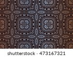 abstract retro decor background ... | Shutterstock .eps vector #473167321
