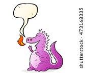 cartoon fire breathing dragon... | Shutterstock . vector #473168335