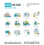 color thin line icons set. back ... | Shutterstock .eps vector #473168731