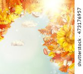 background on a theme of autumn.... | Shutterstock .eps vector #473176957