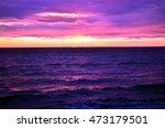 sea waves during a colorful... | Shutterstock . vector #473179501