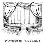 theater scene.sketch vector...   Shutterstock .eps vector #473182075