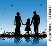 isolated  silhouette family... | Shutterstock .eps vector #473182894