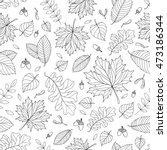 Autumn Seamless Pattern With...