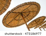 Reed Beach Umbrellas Isolated...