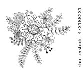 flower doodle drawing freehand... | Shutterstock .eps vector #473188231