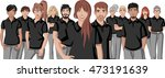 business cartoon young people... | Shutterstock .eps vector #473191639
