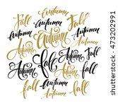 season style lettering.... | Shutterstock .eps vector #473202991