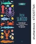 seafood vector menu template...   Shutterstock .eps vector #473207764