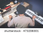 music composer making songs in... | Shutterstock . vector #473208301