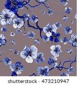 watercolor oriental pattern... | Shutterstock .eps vector #473210947