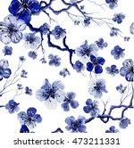 watercolor oriental pattern... | Shutterstock .eps vector #473211331