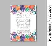 wedding card or invitation with ... | Shutterstock .eps vector #473212009