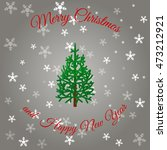 gray christmas background with... | Shutterstock .eps vector #473212921