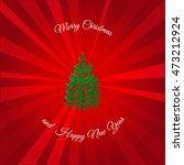 red christmas background with... | Shutterstock .eps vector #473212924