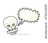 freehand drawn speech bubble... | Shutterstock . vector #473213329