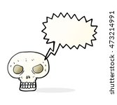 freehand drawn speech bubble... | Shutterstock . vector #473214991
