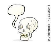 freehand drawn speech bubble... | Shutterstock . vector #473215045