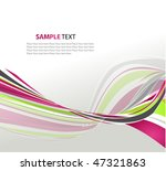 abstract wavy vector design | Shutterstock .eps vector #47321863