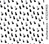 black brush prints pattern ... | Shutterstock . vector #473219905