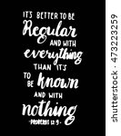 bible quote. it is better to be ... | Shutterstock .eps vector #473223259