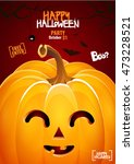 halloween pumpkin head jack... | Shutterstock .eps vector #473228521