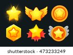 isolated star icons set....