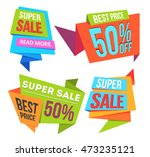sale banners and ads web... | Shutterstock . vector #473235121