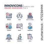 online education   modern... | Shutterstock .eps vector #473236444