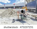 Cement Mixer Machine Is At...