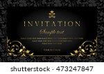 invitation card | Shutterstock .eps vector #473247847
