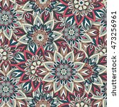 ornate floral seamless texture  ... | Shutterstock .eps vector #473256961