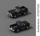 cartoon low polygon car 3d... | Shutterstock . vector #473257261