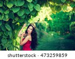 beautiful girl with a royal... | Shutterstock . vector #473259859
