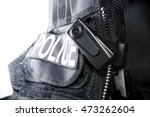 police body camera on tactical... | Shutterstock . vector #473262604