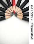 red pencil standing out from... | Shutterstock . vector #473274145