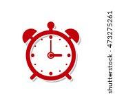alarm clock flat icon